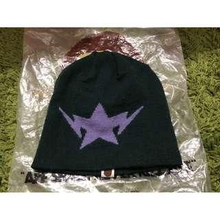 APE 毛帽 A bathing ape 軍綠 帽子 經典閃電 絕版 現貨