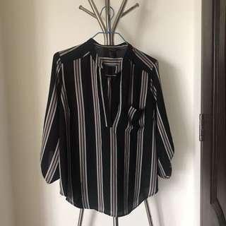 Striped Shirt Forever 21 Contemporary