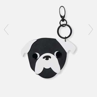Cotton On Rubi Pug Life Bag Charm Keychain
