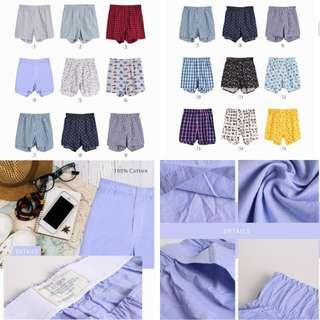 Sale Sisa export branded Celana pendek pria boxer (paketan 4 pcs) random motifnya ga bisa milih2