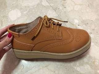 Covered platform shoes