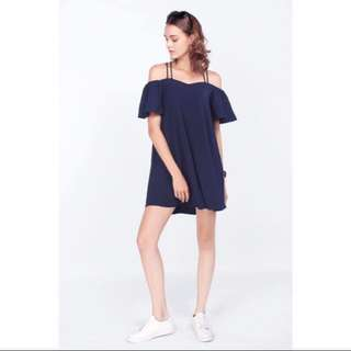 Fayth Rosewood Dress in Navy