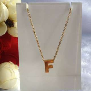 Bangkok Gold 10k Initial Letter Necklace Not Pawnable