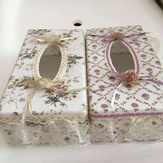 2 for $25.00 Lace tissue holder