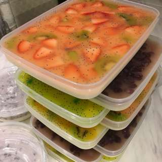雜錦鮮果大菜/紅豆糕