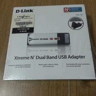 Dlink Xtreme N Dual Band USB Adaptor 300mbps