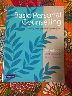 Basic Personal Counselling Textbook
