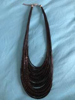 Elegant Shimmering Black Beads