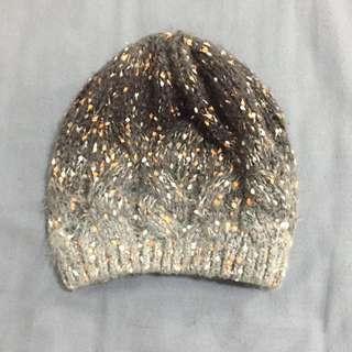 漸層毛線針織毛帽