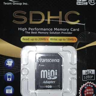 🚚 創見1G mini 記憶卡