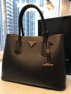 Prada double bag black 黑