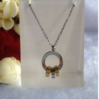 Bangkok Gold 10k 2 Tone Round Center Chain Necklace Not Pawnable