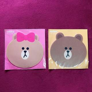 OFFICIAL LINE FRIENDS CHOCO BROWN MOUSE PAD