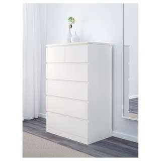 IKEA MALM Chest of 6 drawers  六格抽屜櫃