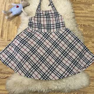 Inspired burberry dress fits to 6-10 years old
