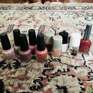#Blessing - Nail polish, base and thinner