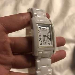 Armani 白瓷女裝錶 ceramics 情人節