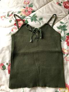 Soldier green tank top