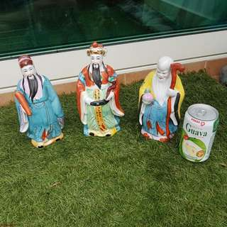 Fu Lu Shou Porcelain Figurines
