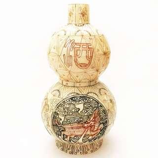 龍鳳雕刻象骨葫蘆