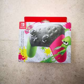 Nintendo Switch Controller Pro Splatoon Limited edition