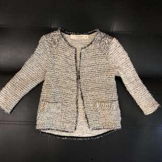 Zara Tweed Knit Jacket Outerwear