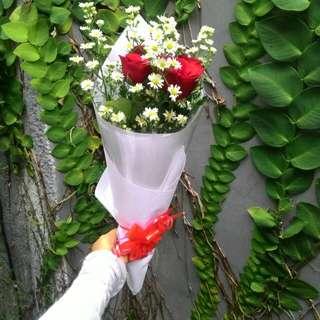 Bouquet mawar asli fresh 100rb