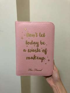 Too faced makeup pouch