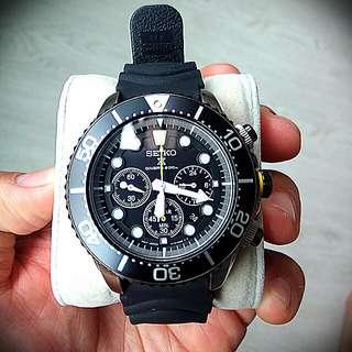 Seiko Solar Chronograph Diver Watch - SSC021