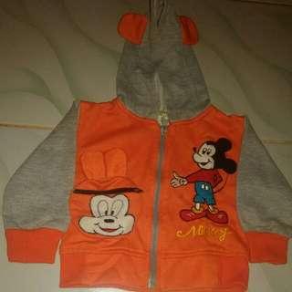 Jaket anak Mickey mouse
