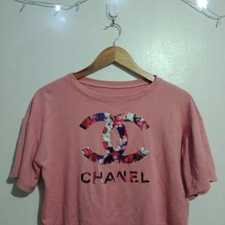 Chanel inspired crop top (Rose pink)