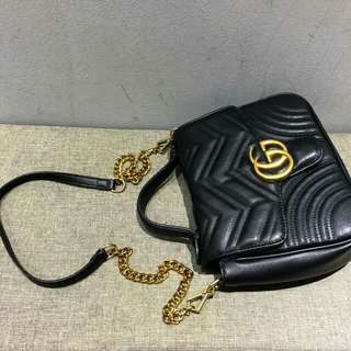 Gucci Marmont Shoulder Bag Black