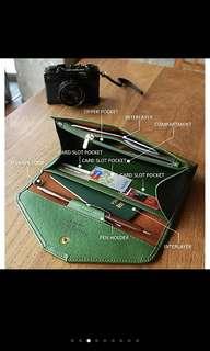 Women's PU leather envelope clutch wallet