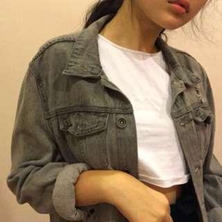 Grey Denim jacket 💀