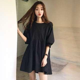 [PO] Uzzlang Oversized Babydoll Dress