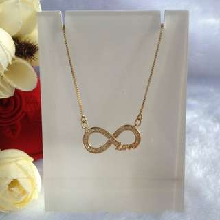 Bangkok Gold 10k infinity Center Chain Necklace Not Pawnable