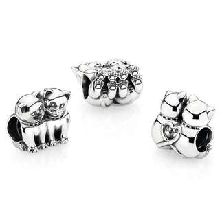 Pandora Charm Purrfect together Kittens