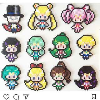 Hama beads design sailor moon characters