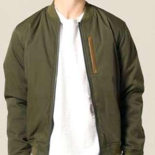 全新Journal Standard 軍綠色 MA-1 Jacket 大熱襟興款 M碼