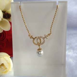 Bangkok Gold 10k Pearl Center Chain Necklace Not Pawnable