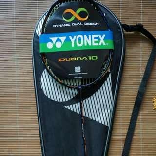 Yonex Badminton Racket Duora 10 (New) c/w BG66