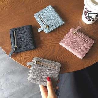 PO Minimalist Slim Genuine Leather Wallet Pouch