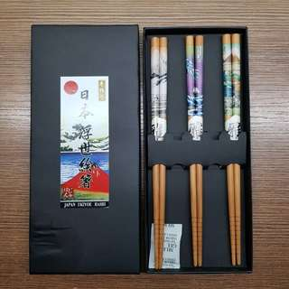 Japanese Bamboo Chopsticks Collectible Set
