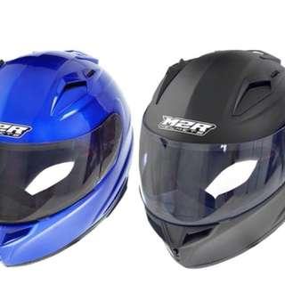 M2R 騎乘機車用全罩式防護頭盔(優惠價:1002元/個) 現貨尺寸:M,L,XL 現貨顏色:黑色,藍色(依照現貨顏色為主)
