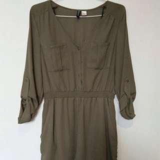 H&M army short jumpsuit