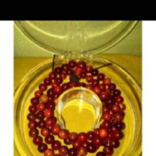 {FS138} Authentic 108 Beads Of Raja Kayu Necklace 8mm