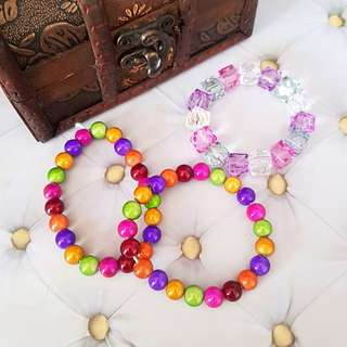🆕️Kids Multi-Coloured Bracelet 3pcs