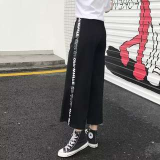 •INSTOCK• HARAJUKU BLACK SPORTS JOGGER PANTS STRIPES