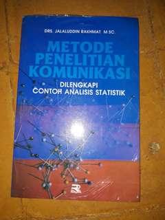 Buku Metode Penelitian Komunikasi (baru masih segel plastik)