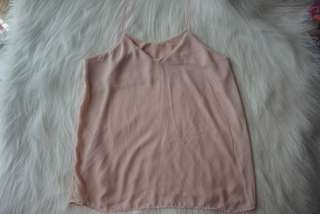 Peach String Sleeveless Top